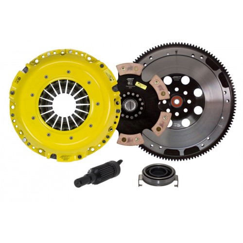 HD 4 Pad Sprung Clutch and Flywheel Kit Subaru Impreza WRX 06-15 2.5 Turbo EJ25 240mm Upgrade